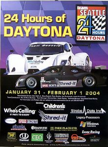 Daytona 24 Hours - Team Seattle  2004  - Official Poster